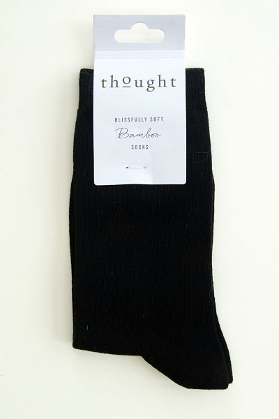 Perfectly plain smart black socks.