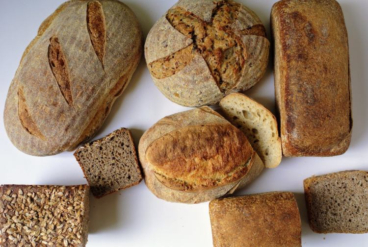 View from above of the various Companions Real Bread Loaves.